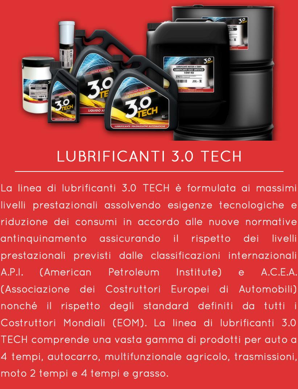 LUBRIFICANTI 3.0 TECH